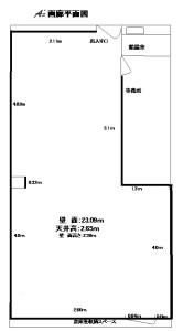 ギャラリーギンザ平面図